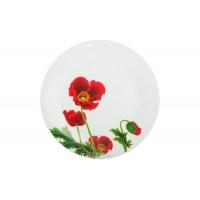 Тарелка обеденная 23см Красные маки