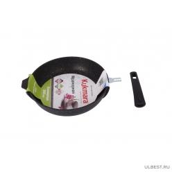 Сковорода Kukmara 260/60 мм с антипригарным покрытием (темный мрамор) со съемной ручкой смт263а