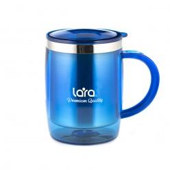 Термокружка Lara LR04-37 400мл, высота 11,5см, диаметр 8см, двойные стенки, пластик