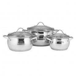 Набор посуды Lara Apple LR02-86 6 предметов кастрюли: 2.0л, 3.6л, 6.1л