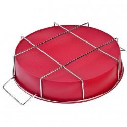 VETTA Форма силиконовая 25x6см, круглая на мет. подставке, 3 цвета, HS-305 (891-020)