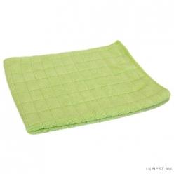 Салфетка из микрофибры М-03 вафельная (универс), цвет-зеленый, р-р 30х30см (310226)