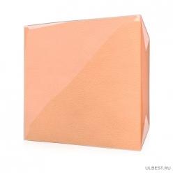 Салфетки Радуга 100 листов, 24см х 24 см, АБРИКОСОВЫЕ с тиснением,100 % целлюлоза, 1 слой,
