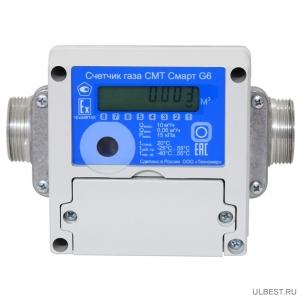 Газовый счетчик СМТ СМАРТ G4 вход газа слева фото