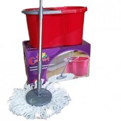Комплект для уборки (ведро с отжимом+швабра с насадкой)