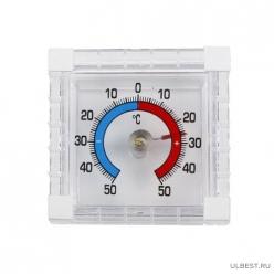 Термометр оконный ТББ Биметаллический квадратный, п/п (21)