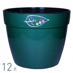 Вазон для цветов Асти 12.0 л. зеленый-черный (AS5 VER-NGR)