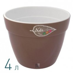 Вазон для цветов Асти 4.0 л. шаде-белый (AS2 SAD-ALB)