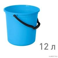 Ведро ТЮЛЬПАН 12 л ГОЛУБОЙ