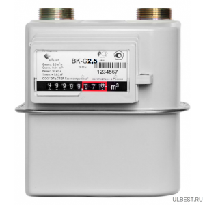 Газовый счетчик ВК G-2,5 прав фото