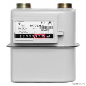 Газовый счетчик ВК G-2,5T V12 левый фото