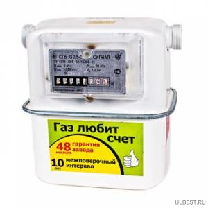 Газовый счетчик Сигнал СГБ-G4-1 боковой нов.обр. правый-22 фото