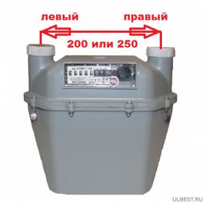 Газовый счетчик G6 СГМН-1-00 250мм левый фото