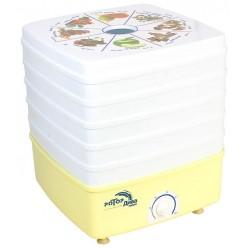 Сушилка для овощей и фруктов Ротор Дива Люкс СШ-010-02 5 поддонов, вентилятор, гофротара